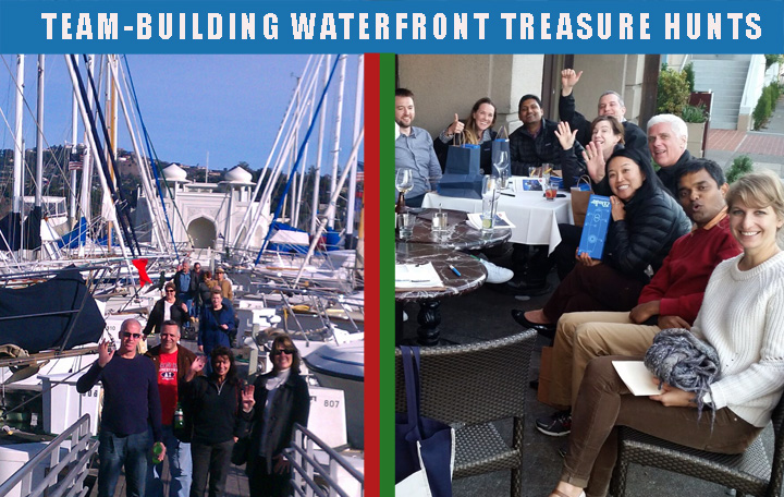 sausalito waterfront treasure hunts - fun team building activity